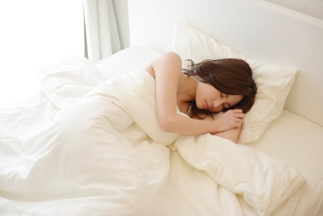 寝室は、ひんやり温度に調整する